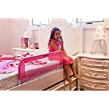 Dream On Me Mesh Security Crib Rail, Pink (Color: Pink)
