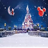 GoodsFederation 10x10FT Christmas Santa Claus & Christmas Balloon & Fantasy Castle Photography Backdrop Customized Photo Background Studio Prop SDJ-018 (Color: Sdj-018, Tamaño: 10X10FT)
