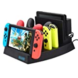 Charging Dock for Nintendo Switch,FYOUNG Charger Stand for Nintendo Switch Console,Switch Pro controllers and Joy-Cons with 1 USB Type-C Cable and 1 DC Cable (Color: Dock B)