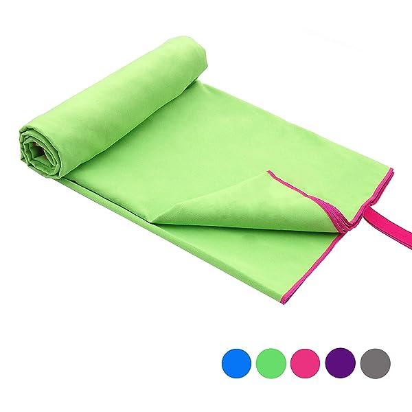Microfibre Quick Dry Towel Travel Bath Camping Sport Gym Yoga Hiking Jogging