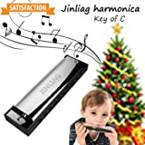 Harmonica for kids or beginners at Parties, Holidays and Special Events as gifts,Diatonic harmonica key of c,Standard 10 Hole Diatonic Harmonica for children