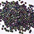 Outus 800 Pieces Black Cube Beads with Colorful Alphabet Letters, Acrylic Plastic