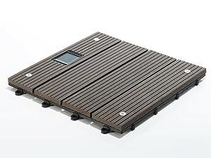 Terrassenfliesen Set Timber LED, dunkelgrau   Menge wählbar, 11 Stück  1m²  BaumarktÜberprüfung und Beschreibung
