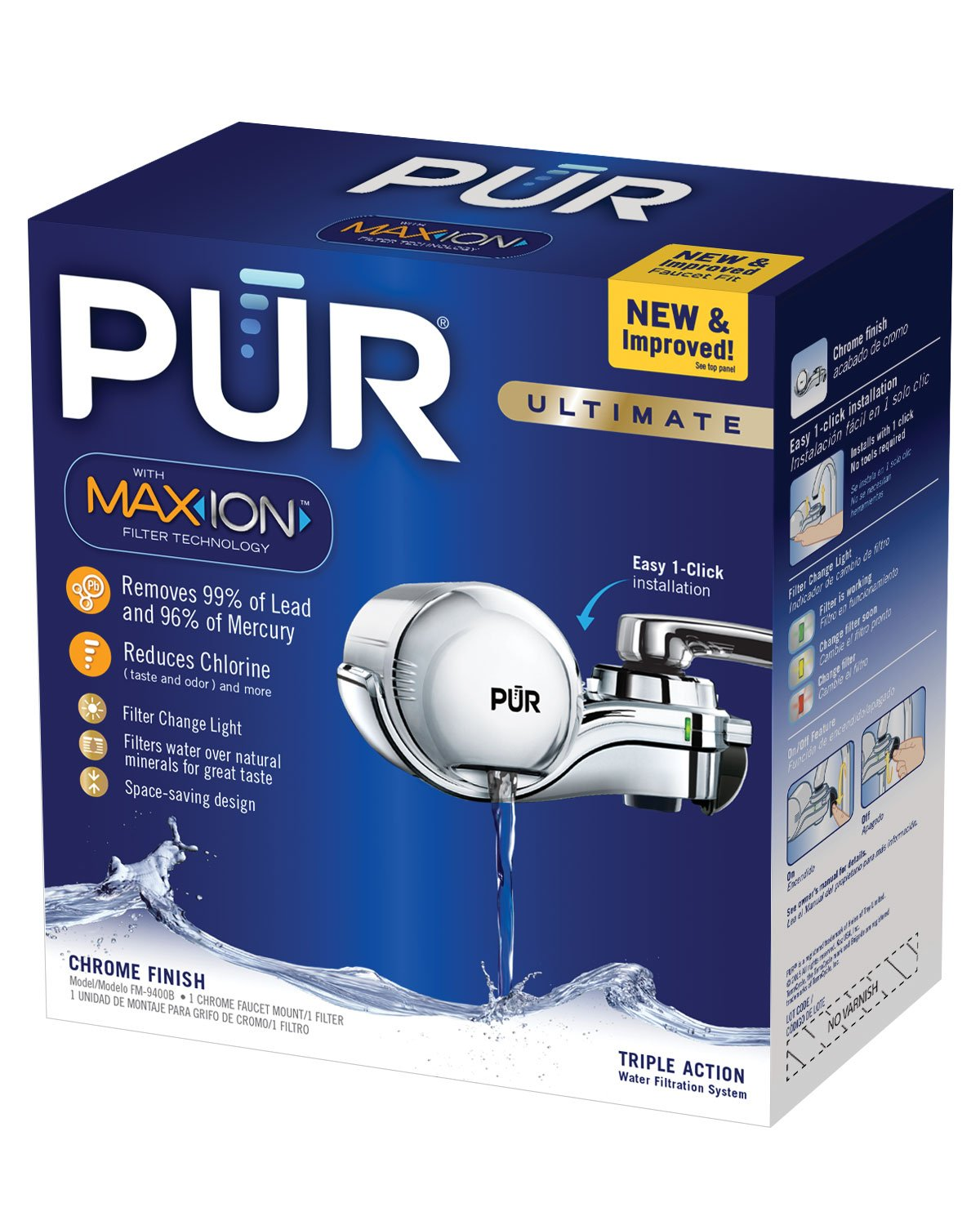 PUR 3 Stage Horizontal Faucet Mount