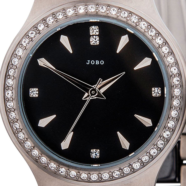 Damen-Armbanduhr Quarz Analog Titan mit Keramik und Kristall-Elements jetzt bestellen