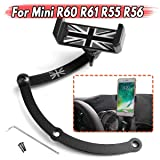 Daphot-Store - Smartphone Cell Phone Cup Mount Holder 360° Rotatable Phone GPS Holder For BMW For Mini Cooper R55 R56 R60 R61 (Color: White)