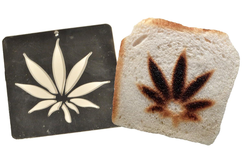Burnt Impressions Toaster Inserts - Ganja/Marijuana Leaf