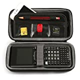 BOVKE for Graphing Calculator Texas Instruments TI Nspire CX CAS Graphing Calculator Hard EVA Shockproof Carrying Case Storage Travel Case Bag Protective Pouch Box (Color: Black)