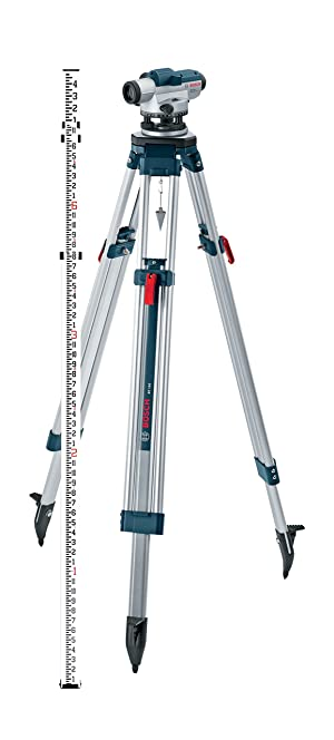 Bosch Optical Level Kit with 32x Magnification Power Lens, Tripod and Rod GOL 32CK