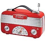 Coca-Cola Vintage AM/FM Tuner Radio - Portable Coke Logo Acrylic Replica (Color: red)
