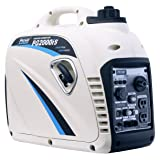 Pulsar PG2000iS 2000W Peak 1600W Rated Portable Gas-Powered Inverter Generator (Color: White, Tamaño: 2000w)