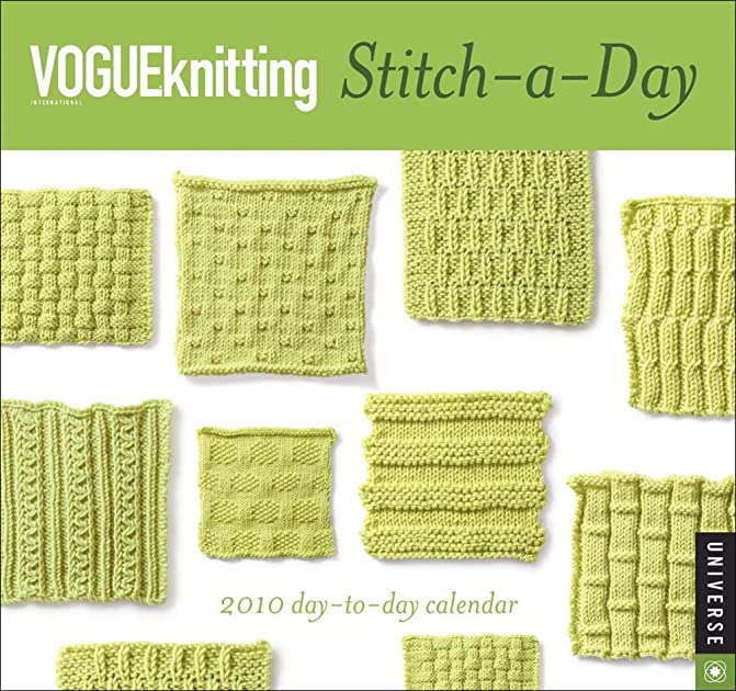 How To Join Live Stitches In Knitting : Cheapest copy of Vogue Knitting Stitch-a-Day: 2010 Calendar by Universe Publi...
