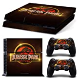 ZoomHit Ps4 Playstation 4 Console Skin Decal Sticker Jurassic Park + 2 Controller Skins Set