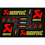 Akrapovic Decals Stickers Exhaust System Vinyl Graphic Set (Color: Black)
