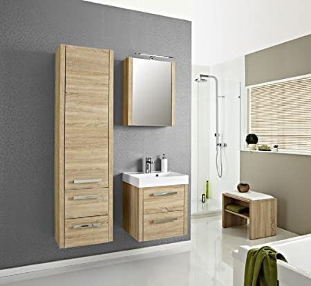 Pelipal Lardo 3-Piece Bathroom Furniture Set Washbasin / Cupboard / Mirror Cabinet / Comfort N