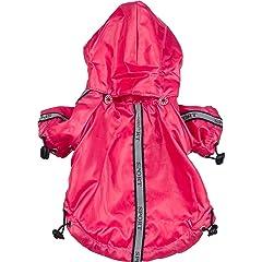 Pet Life Reflecta-Sport Rain Jacket/Windbreaker in Hot Pink – Medium