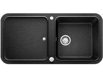 blanco yova xl 6 s anthrazit granit sp le k chensp le sp lbecken schwarz auflage dc926. Black Bedroom Furniture Sets. Home Design Ideas