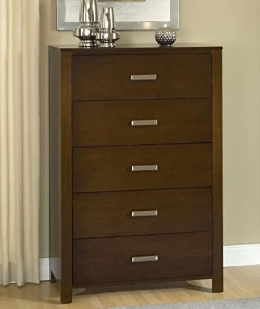 Modus Furniture International Riva 5-Drawer Chest, Chocolate Brown