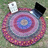 Handicraftofpinkcity Printed Table Cover Mandala Table Cloth Table Runner wall Hanging Round Throw