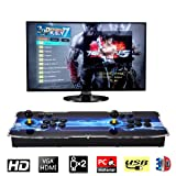 Pandora's Key 7 3D Home Arcade Game Console   Includes 2177 HD Games   Full HD (1920x1080) Video   2 Player Game Controls   USB and TF/Micro SD ports (add more games)   HDMI/VGA/USB/AUX Audio Output (Color: 2177-black)