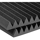 Auralax Studiofoam Wedge Panels, 2-Inch by 24-Inch by 24-Inch, Pack of 2, Charcoal (Color: Charcoal, Tamaño: 2