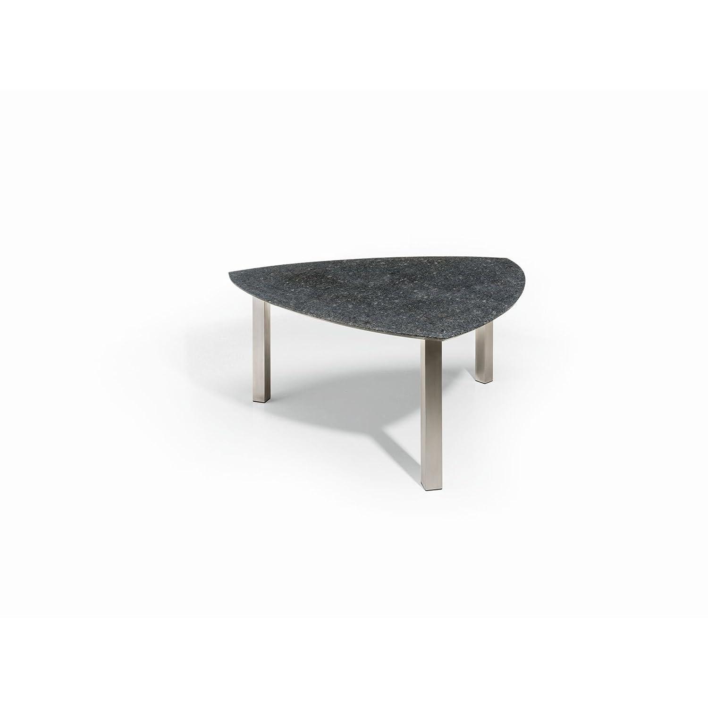 Studio 20 Gartentisch Outdoortisch Granittisch Bermuda Edelstahl 240 x 120 x 75 cm Tischplatte Pearl black satiniert