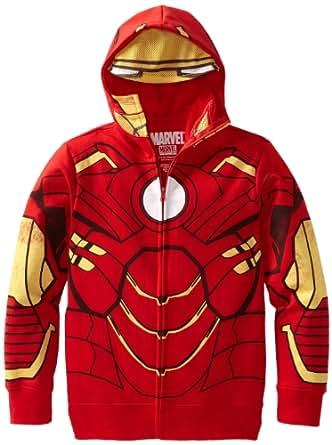 Freeze Big Boys' Iron Man Hoodie, Red, Medium
