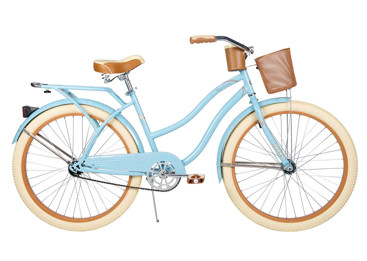 Women39s Cruiser Bike Bicycle Beach 26quot Huffy Ladies Deluxe Basket Dr
