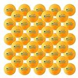 KEVENZ 50-Pack 3-Star 40mm Orange Table Tennis Balls,Advanced Training Ping Pong Balls (Practice ping-pong Ball)