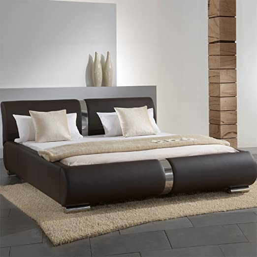 Meise Möbel 203-10-50000 Polsterbett Lynes mit Kunderlederbezug, Liegefläche circa 180 x 200 cm, braun