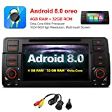 MCWAUTO For BMW E46 320 325 7 Inch Android 8.0 Multi Touch Screen Car Stereo Radio DVD Player GPS CANbus Screen Mirroring Function OBD2 Octa-Core 64Bit 4G RAM 32GB ROM
