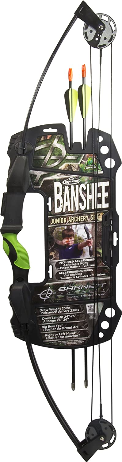 Barnett Outdoors Team Realtree Banshee Quad Youth Compound Bow Archery Set $35.99
