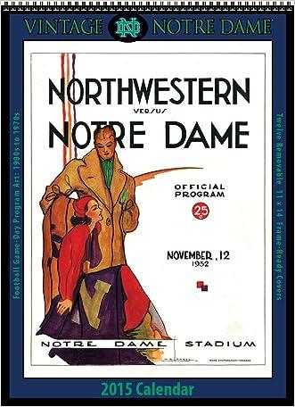 Notre Dame Fighting Irish 2015 Vintage Football Calendar