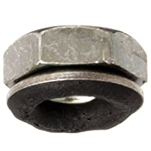 "Carbon Steel 1050 Bartite Sealing Nut with 0.406"" OD Conical Washer"
