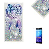 Funyye Glitter Liquid Case for Sony Xperia XA1 Ultra,Stylish Multi-Coloured Sparkle Quicksand Dream Catcher Design Transparent Soft Flexible Silicone Gel TPU Cover Case for Sony Xperia XA1 Ultra (Color: Design# 5, Tamaño: Sony Xperia XA1 Ultra)