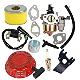 HIFROM Carburetor Carb Kit with Air Filter Ignition Coil Recoil Starter for Honda Gx140 Gx160 Gx200 5.5HP 6.5HP Engine Motor Parts