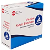 Dynarex Adhesive Fabric Bandage, 1 Inches X 3 Inches Sterile, 100 Count (Pack of 3) (Tamaño: 100 Count (Pack of 3))