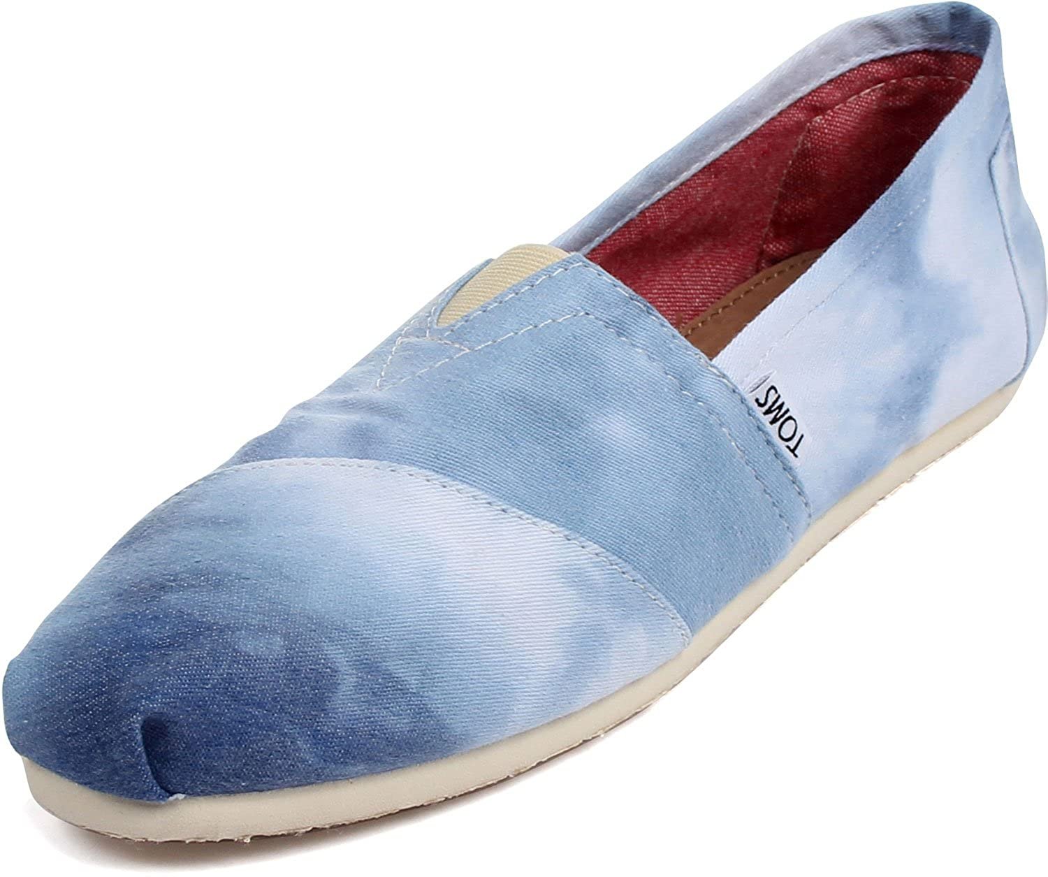 toms womens classic slip on shoes in toms blue size 12