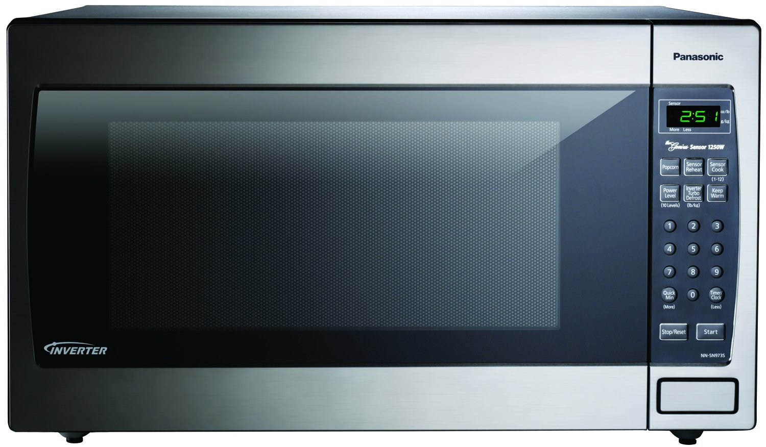 ... NN-SN643S Stainless 1200W 1.2 Cu. Ft. Countertop Microwave Oven