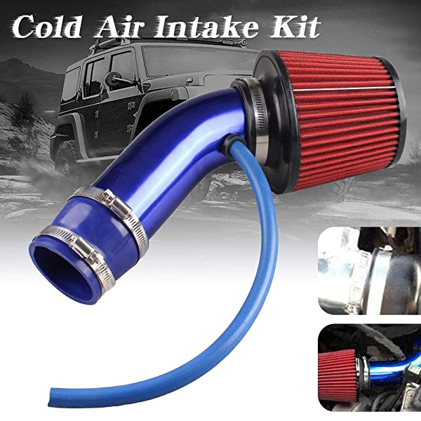 Universal 76mm Car Cold Air Intake Filter Induction Kit Pipe Hose System