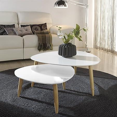 Mesas de centro nido Blanco/Blanco