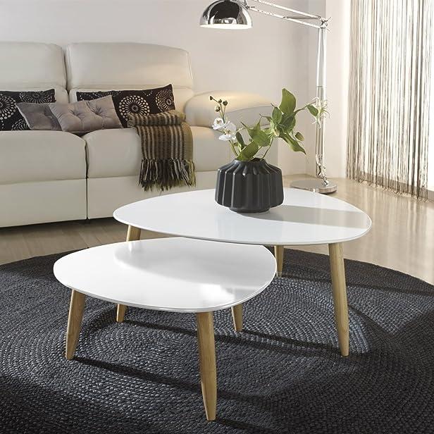 Tavolo basso a T bianco