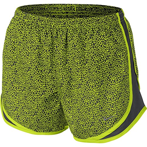 Nike Women's Tempo Printed Running Shorts (Volt, X-Small)