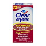 Clear Eyes Maximum Redness Relief, 1-Ounce Packages (Pack of 3) (Tamaño: 1 ounce (Pack of 3))