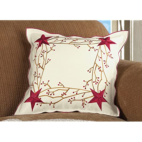 Primitive Country Star Pillow Cover