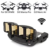 DJI Mavic Pro Mavic Air Spark Accessories for DJI Mavic Pro / Mavic Air / Spark Controller Signal Booster Foldable Signal Extender Transmitter Antenna Range Extender DJI Spark Drone (Gold) (Color: Spark/Mavic Pro)
