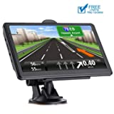 GPS Navigation for car 7 Inch HD Voice Broadcast Frontline Loading North America Map Contains (United States Canada Mexico Map) Lifetime Map Free Update (Color: 2019 New Map)
