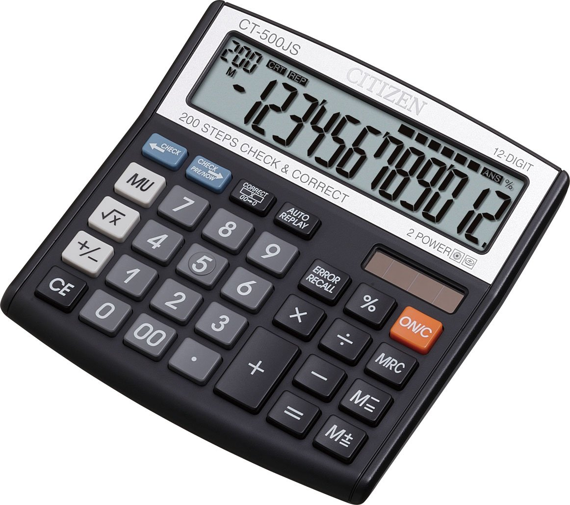 citizen desktop ct 500js calculator in office products