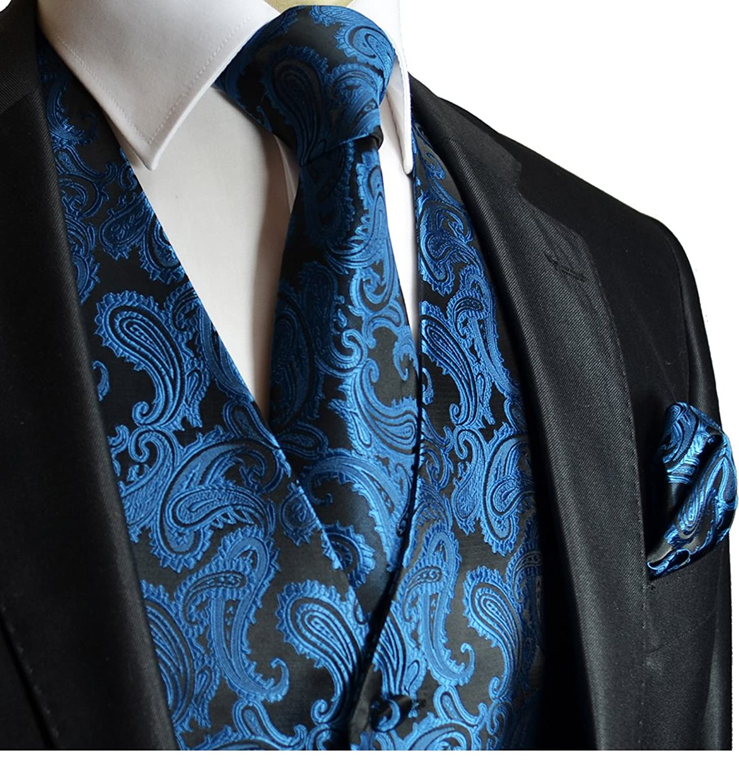 Black And Blue Paisley Tuxedo