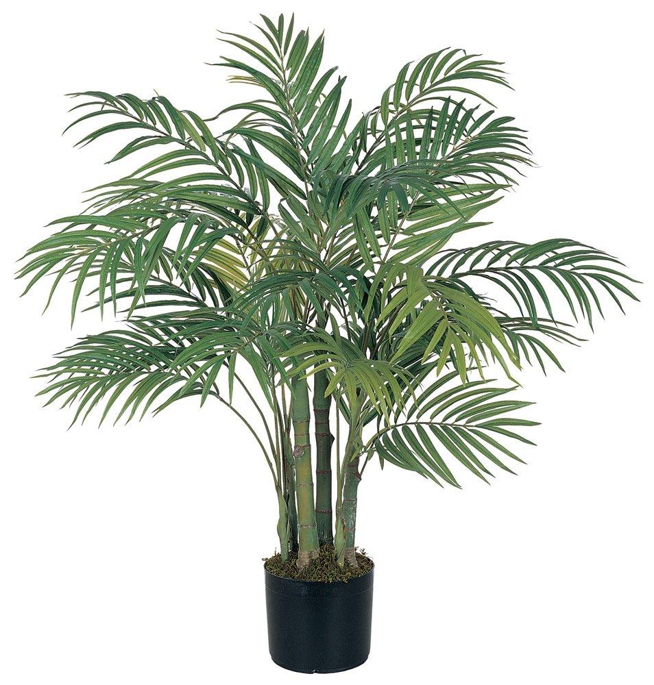 Nearly Natural 5000 Areca Decorative Silk Palm Tree, 3-Feet, Green